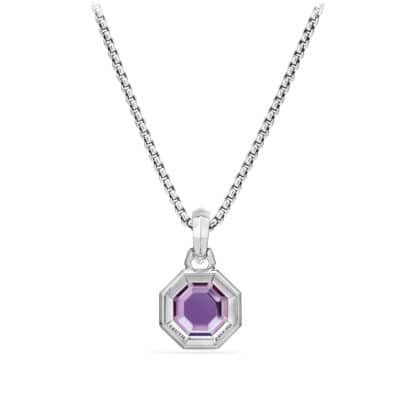 Cable Collectibles Octagon Cut Amulet with Amethyst