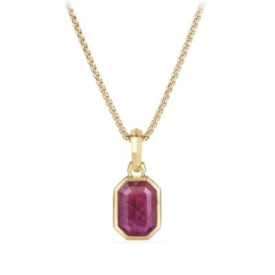 Cable Collectibles Emerald Cut Amulet in 18k Gold