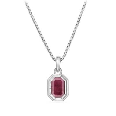 Cable Collectibles Emerald Cut Amulet with Indian Ruby