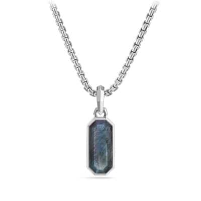 Emerald Cut Amulet with Labradorite