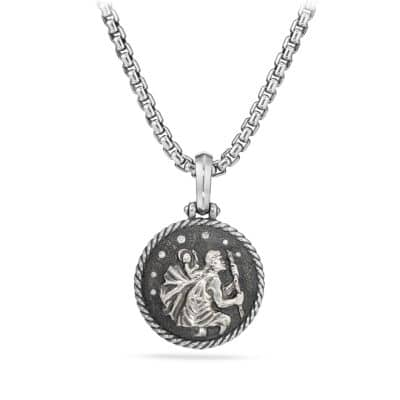 Cable Collectibles St. Christopher Amulet with Diamonds