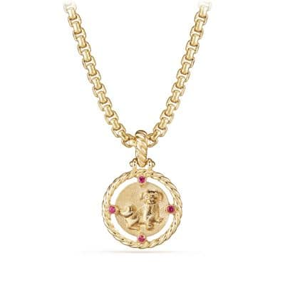 Lunar New Year Charm in 18K Gold with Rubies