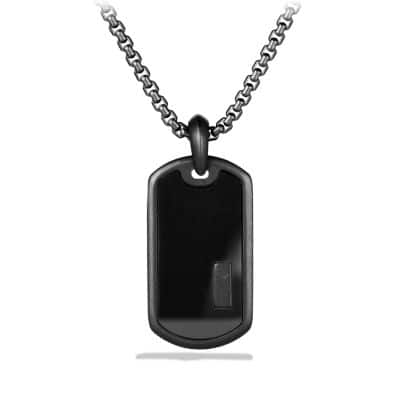Exotic Stone Tag with Black Onyx thumbnail