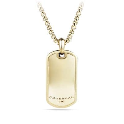 Tag with Diamonds in 18K Gold