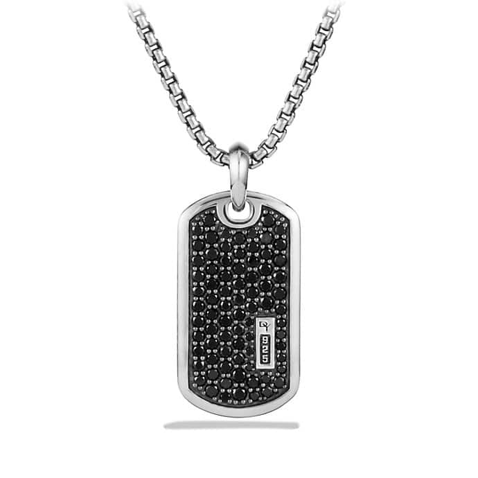 Pavé Tag with Black Diamonds