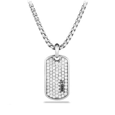 Pavé Tag with Diamonds