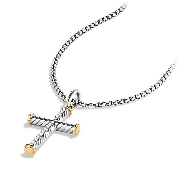 Cable Cross with Gold