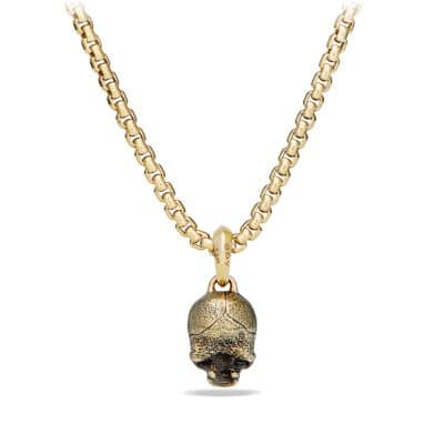 Cable Classics Skull Pendant in 18K Gold