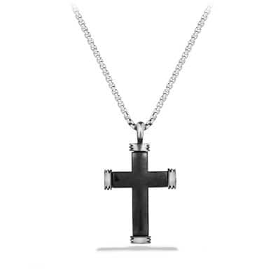 Royal Cord Cross with Black Diamonds