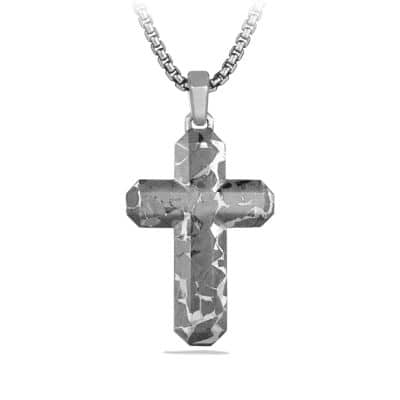 Fused Meteorite Cross Tag