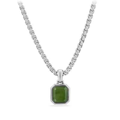 Emerald Cut Amulet with Jade