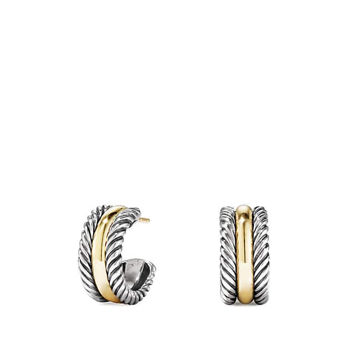 Cable Classics Hoop Earrings with Gold