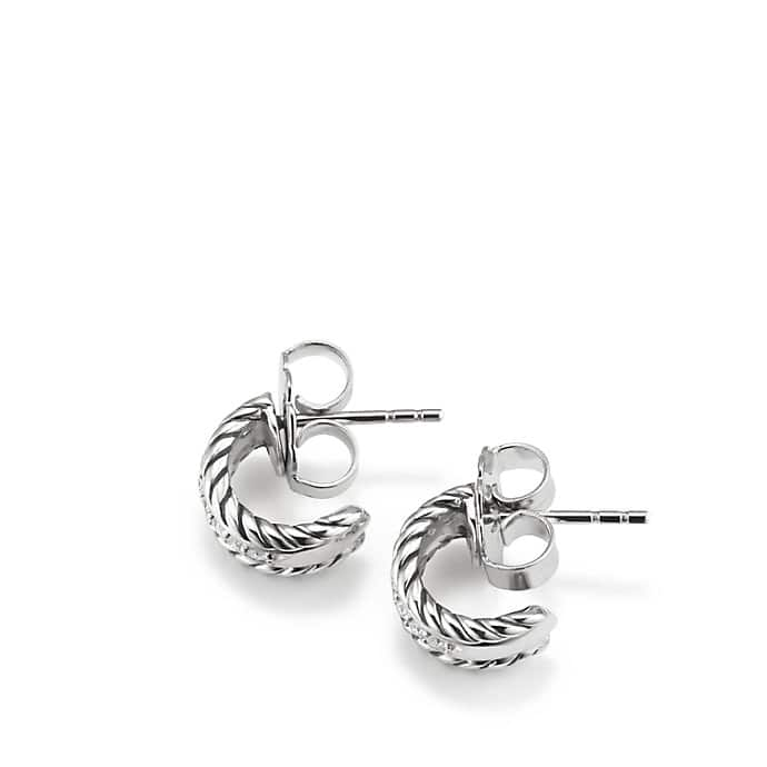 Cable Classics Earrings with Diamonds