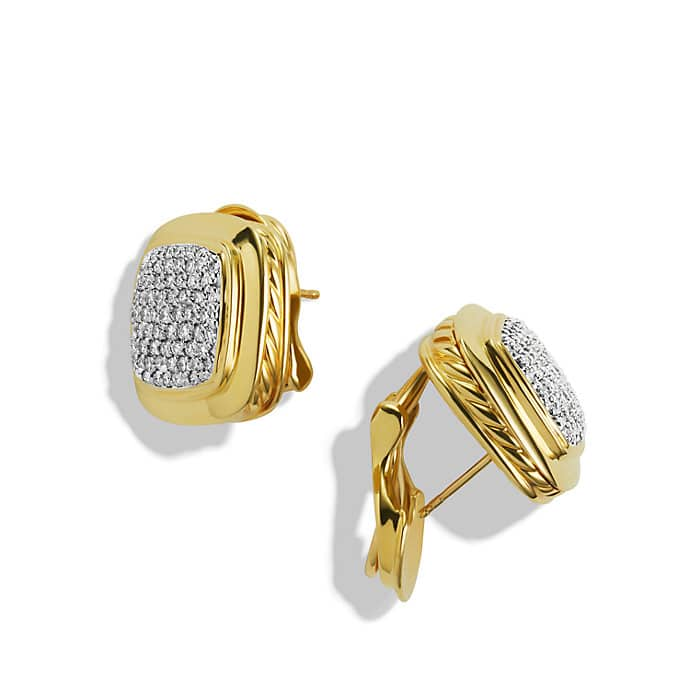 Albion Earrings with Diamonds in Gold