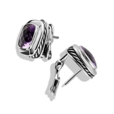 Albion Earrings with Amethysts