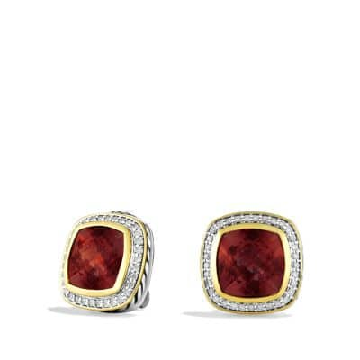Albion Earrings with Garnets, Diamonds, and Gold
