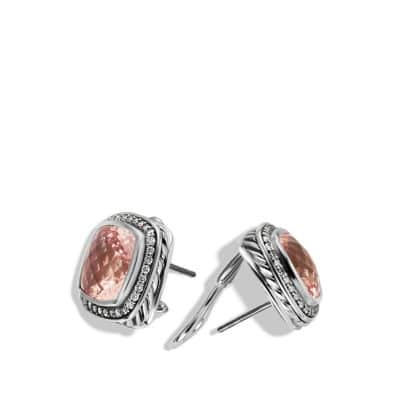 Albion Earrings with Morganites, Diamonds, and Rose Gold