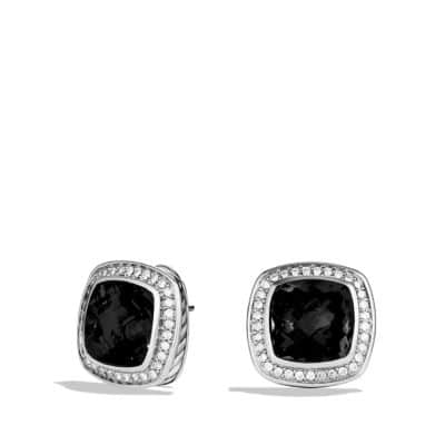 Albion Earrings with Black Onyx and Diamonds