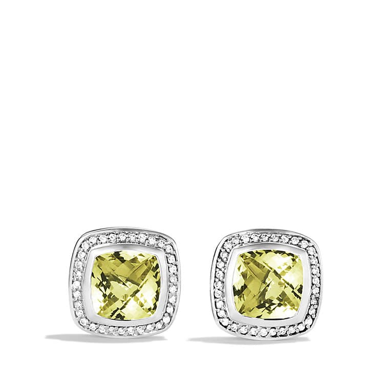 Albion Earrings with Lemon Citrine and Diamonds