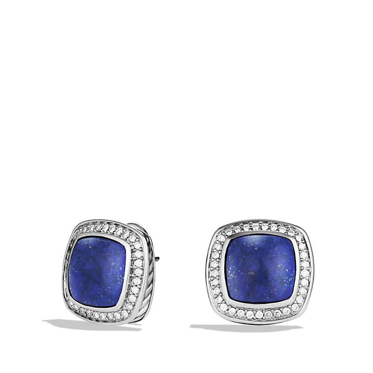 Albion Earrings with Lapis Lazuli and Diamonds