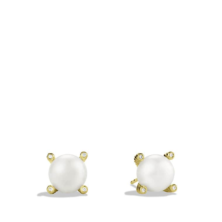 Pearl Earrings in Gold