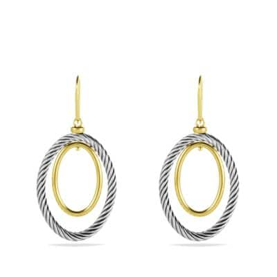 Mobile Oval Earrings with Gold
