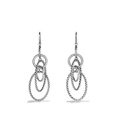 MOBILE W/PAVE EARRINGS DIA SIL