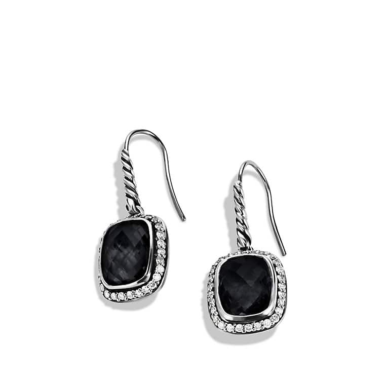 Noblesse Drop Earrings with Black Onyx and Diamonds