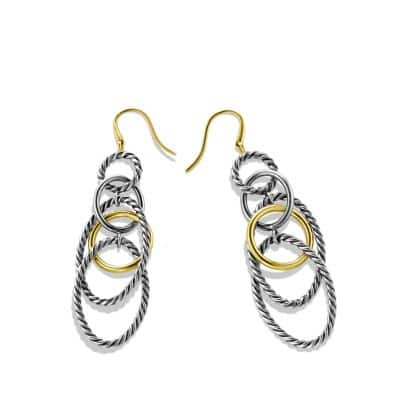 Mobile Chain Earrings with 18K Gold