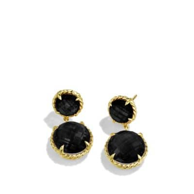 Châtelaine Mini Double-Drop Earrings with Black Onyx in 18K Gold