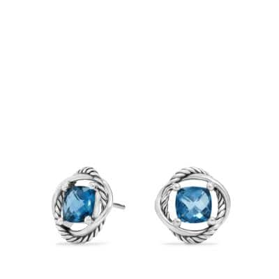 Infinity Earrings with Hampton Blue Topaz