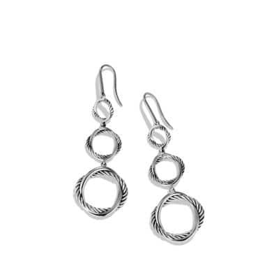 Infinity Triple-Drop Earrings