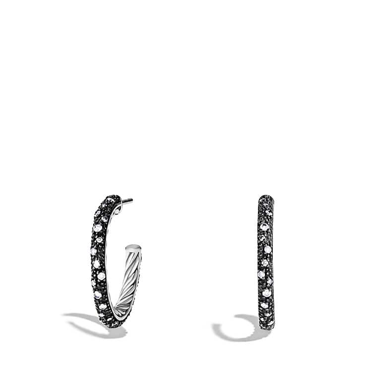 Midnight Mélange Small Hoop Earrings with Diamonds