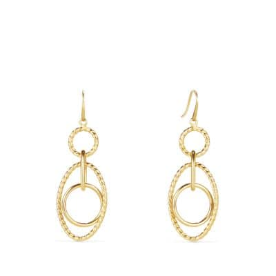 Mobile Small Link Earrings in 18K Gold