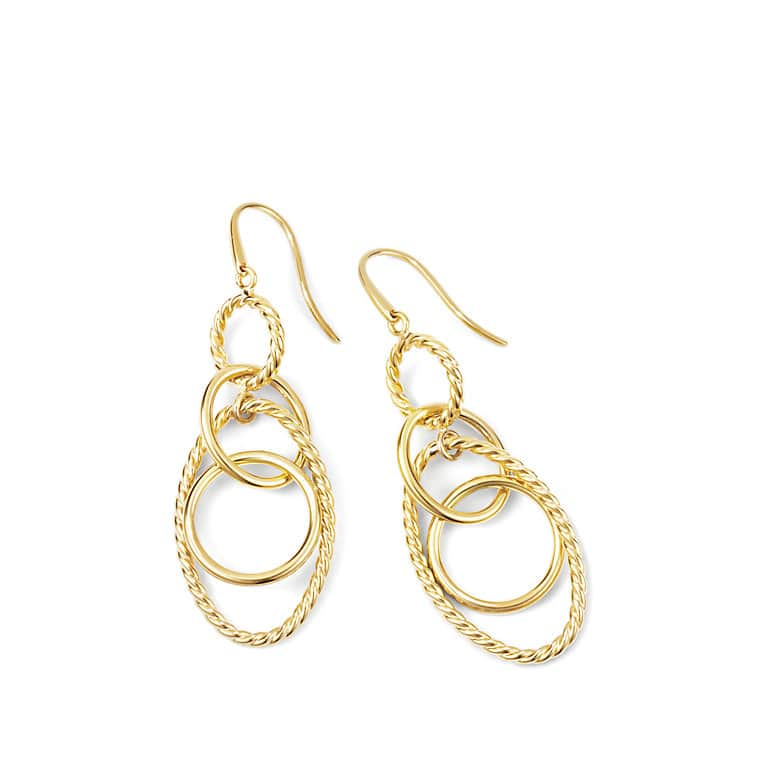 Mobile Small Link Earrings in Gold