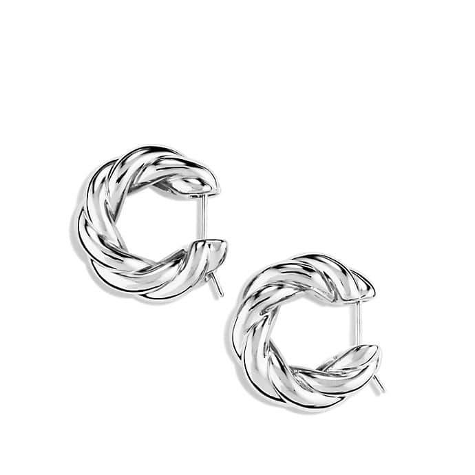 Sculpted Cable Large Earrings