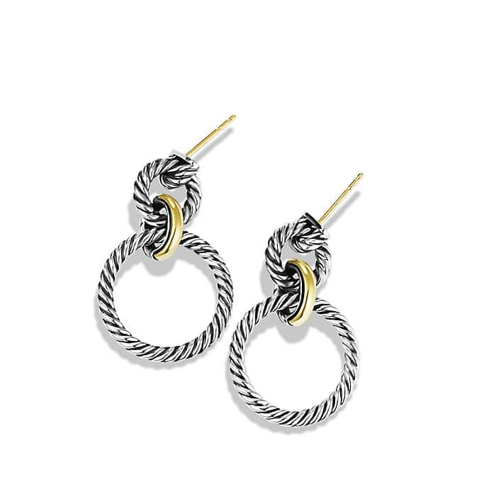 Cable Classics Doorknocker Earrings with Gold