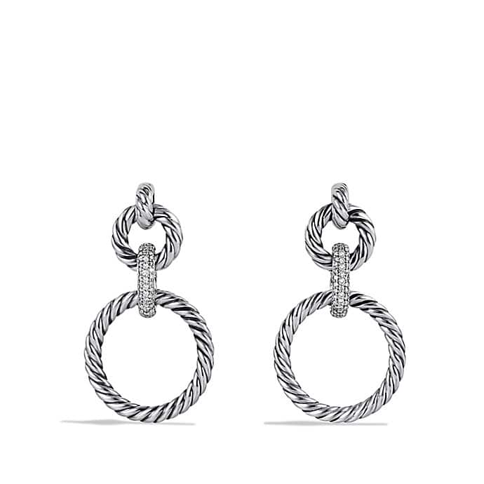 Cable Classics Doorknocker Earrings with Diamonds