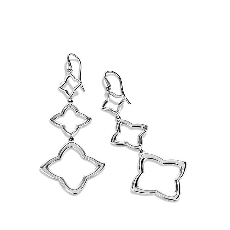 Quatréfoil Triple-Drop Earrings