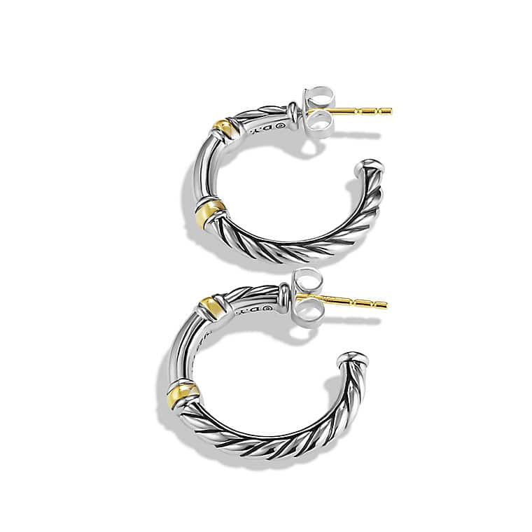 Metro Hoop Earrings with Gold