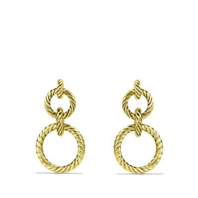 Cable Doorknocker Earrings in Gold