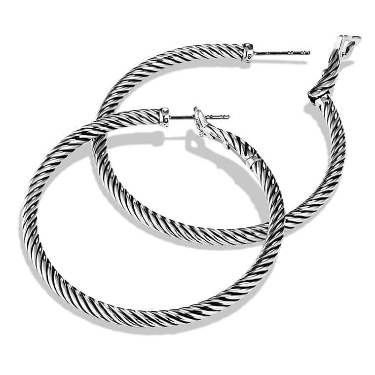 Cable Classics Large Hoop Earrings