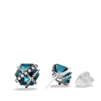 Cable Wrap Earrings with Hampton Blue Topaz and Diamonds