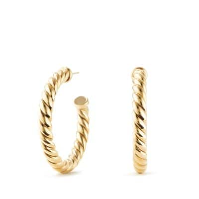 Cable Classics Hoop Earrings in 18K Gold
