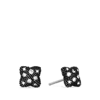 Quatrefoil Earrings with Diamonds