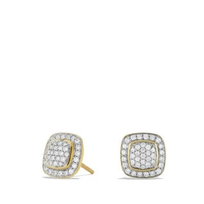 Petite Albion Earrings with Diamonds in Gold