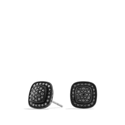 Petite Albion Earrings with Black Diamonds
