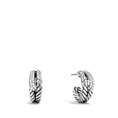 Labyrinth® Single-Loop Earrings with Diamonds