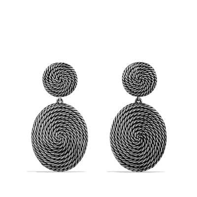 Cable Coil Double-Drop Earrings