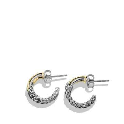Labyrinth Single-Loop Earrings with 18K Gold